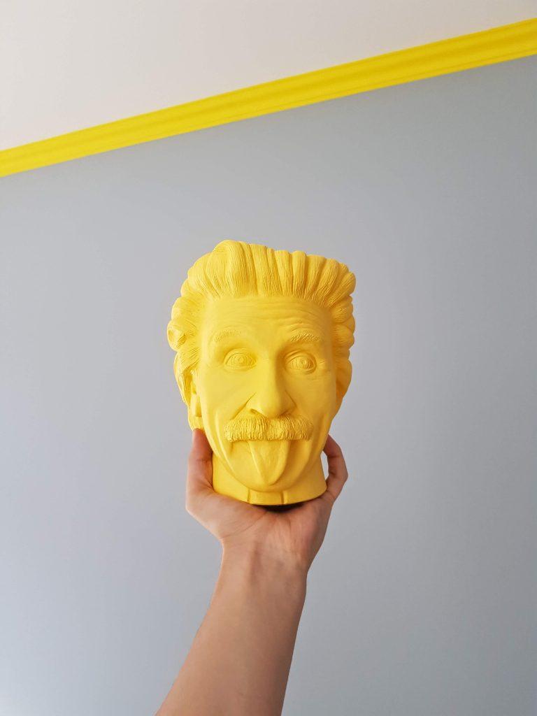 albert einstein jaune